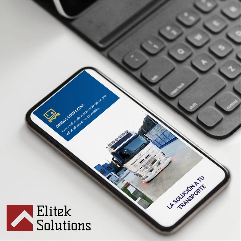 pagina web para empresa transporte